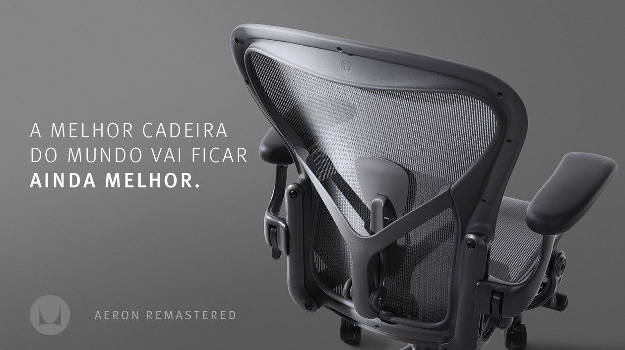 A melhor cadeira do mundo vai ficar ainda melhor.