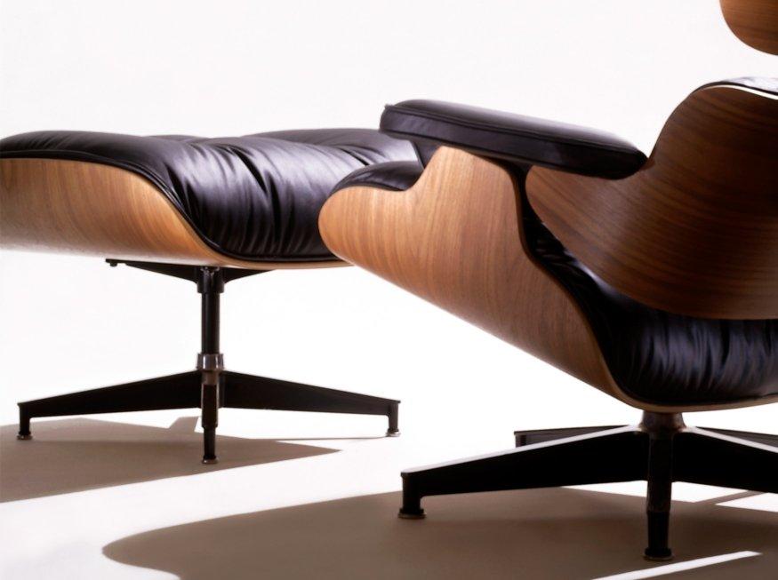 Ottoman eames eames lounge chair ottoman skandium for Fauteuil eames imitation