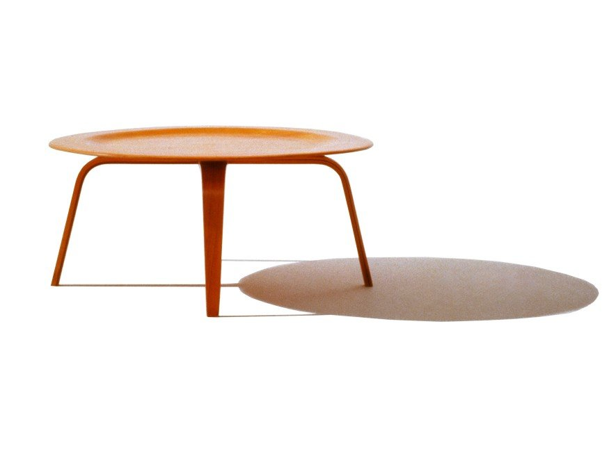 Foi Para Complementar O Ambiente Com Suas Famosas Plywood Chairs Que O  Casal Charles E Ray Projetaram A Molded Plywood Coffee Table, Em 1946. Part 77
