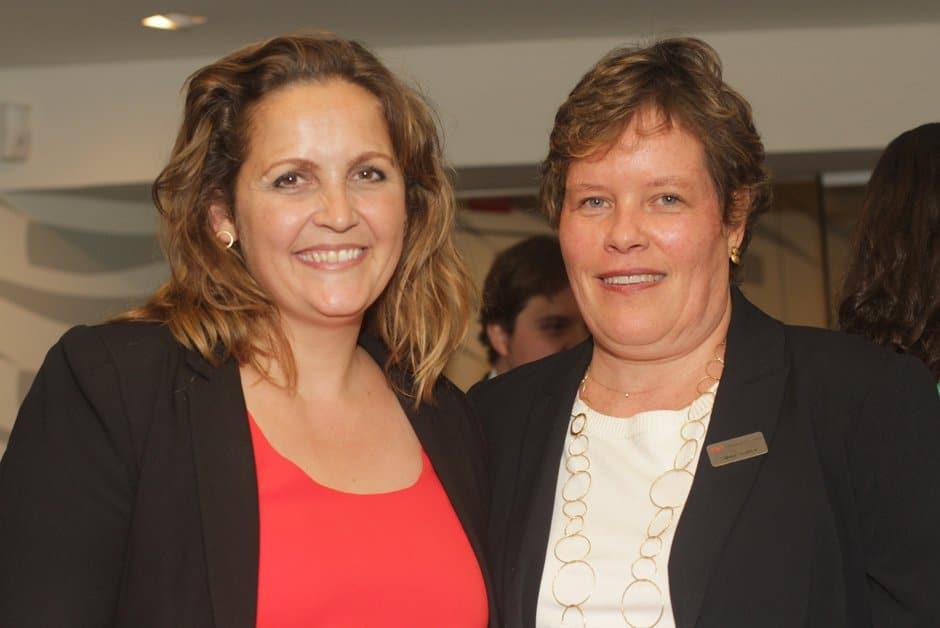 A ministra dinamarquesa,Pia Olsen Dyhr e Silvia Serbe, diretora de Marketing da Atec
