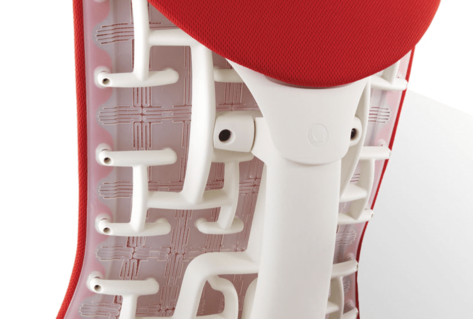 Detalhe cadeira Embody da Herman Miller.